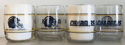San Diego Chargers Set Of 4, 13.5oz Drinking Glasses. Shell Gas 1990's Promotion