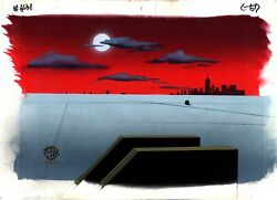 Batman The Animated Series Animation Production Background N Layout Drawing 67
