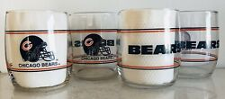 Chicago Bears Set Of 4, 13.5oz Drinking Glasses. Shell Gas 1990's Promotion