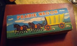 Vintage Small Covered Wagon Toy With Box -- Prairie Wagon