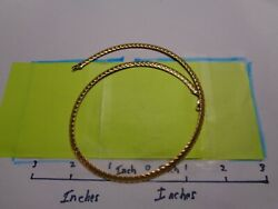 9.3 Grams 14kt Gold Italy Necklace 16 1/2 Inches Long C-1