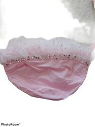 Pottery Barn Kids Easter Small Basket Liner Pink With Sequined Tulle