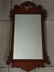 Antique Fret George Lll Walnut Chippendale Mirror Excellent Condition