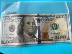 2009 100 Dollar Bill Star Us Federal Reserve Note Series 2009a