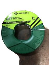 Greenlee Ftxf-100 Reel-x 100' Non-conductive Fish Tape New