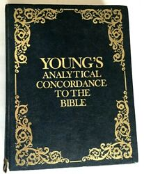 Vintage 1980 Young's Analytical Concordance To The Bible  Hc Embossed Cover