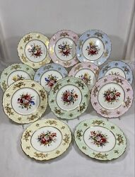 Collectible 12 Hammersley Lady Patricia Luncheon /dessert Plate F. Howard