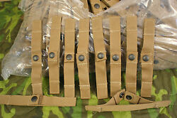 1 Lot 10 New Molle Ii U.s.m.c. Coyote Brown Utility Straps W/ Snaps 100s Of Uses
