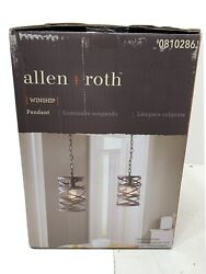 Allen + Roth 7-in Bronze Art Deco Hardwired Bronzed Pendant Light
