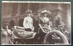 Mint Usa Picture Postcard Womens Suffrage Voting Mrs Charles Blaney And Wilmarth