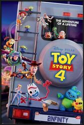 Toy Story 4 - Framed Pixar Movie Poster Adventure Of A Lifetime 24 X 36