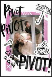 Friends - Framed Tv Poster Ross And Rachel - Couch - Pivot Size 24 X 36