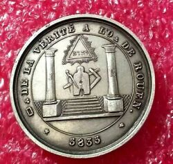 Vintage Collectable Masonic Silver Jewels And Medal/name Of God In Hebrew /judaica