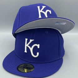 Kansas City Royals Basic Authentic Collection 59fifty New Era Royal Blue Hat