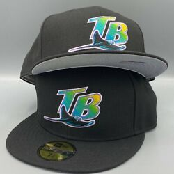 Tampa Bay Rays Authentic Collection New Era 59fifty Mlb Black Hat