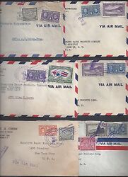 Panama To Us 1940s Collection Of Six War Time Commercial Censored Covers