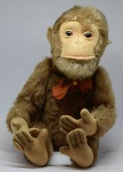 Antique Vintage Old German Mohair Shuco Monkey Straw Stuffed Glass Eyes