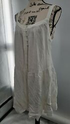 Wild Fable Womens White Square Neck Sleeveless Designer Short Dress Medium