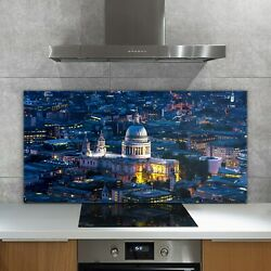 Glass Heat Resistant Kitchen Tile Splashback View Of St Pauland039s Cathedral 140x70
