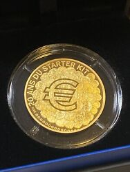 France 2021 20 Years Of Euro Starter Kit Brilliant Proof Gold Coin 100andeuro 1/2 Oz