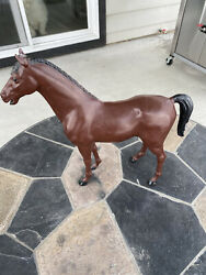 """Marx Johnny West Series Jane West Horse Dark Brown 1966 Pre Owned 15.5x14""""tall"""