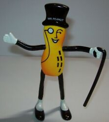 Mr Peanut Doll Planters Peanuts Rubber Bendable Toy Figure Nos Gift For Mom Dad
