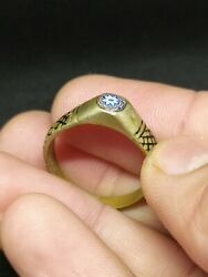 Extremely Rare Ring Carved Vintage-antique Roman Style Metal Very Old Jewelry