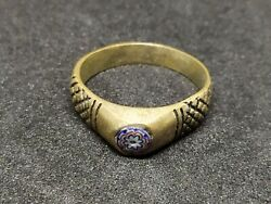 Extremely Rare Ring Bronze Carved Vintage-antique Roman Style Very Old Jewelry