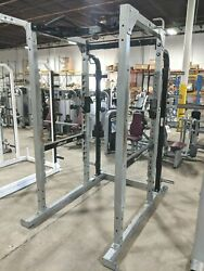 Hammer Strength 8and039 Power Rack With Pull Up Bars - Squat Weightlifting Gym Cage