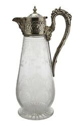 Antique - Martin Hall And Co - Sterling Silver Claret Jug / Decanter - 1868