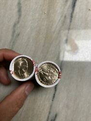 2 Rolls P And D George W Bush 2020 Uncirculated From Us Mint 50 Coins
