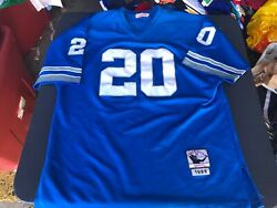 Nfl Detroit Lions Barry Sanders Mitchell And Ness Throwback 1996 Jersey Size 56
