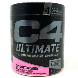 Cellucor C4 Ultimate Pre-workout Powder 20 Servings Cotton Candy Caffeine And Pump
