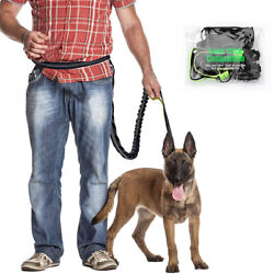 Up To 150lb Pp03 Pet Dog Retractable Hands-free Dual Bungees Running Dog Leash