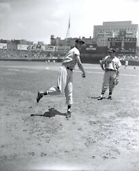 Ted Williams 1946 Boston Red Sox Original Photo Negative 4 X 5 Crystal Clear