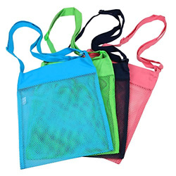 Colorful Mesh Beach Bags 11.4 x 13.7inch Breathable Sea Shell Bags with Carrying $21.80