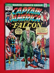 Captain America 176 Falcon Ironman Thor F- 5.5 Or Better Marvel 1974