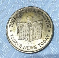 Vintage Haverhill Ma Gazette Todays News Lucky Doubloon Promotional Tokens Medal