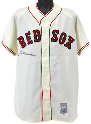 Red Sox Ted Williams Authentic Signed Mitchell And Ness Flannel Jersey Jsa Z68403