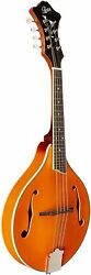 A-style Acoustic 8-string Mandolin W/ Solid Top And Gig Bag Andndash Trans Amber