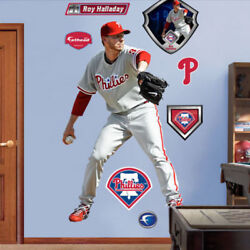 Roy Halladay Fathead Real Big Mlb Wall Graphics Lifesize + Phillies Extra Decals