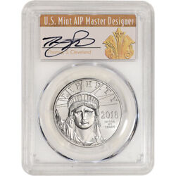 2018 American Platinum Eagle 1 Oz 100 - Pcgs Ms70 First Day Of Issue Cleveland