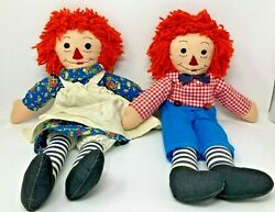 Raggedy Anne And Andy Dolls, Vintage