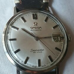 Vintage Omega Seamaster De Ville 18k Wg Automatic Menand039s Watch Rare And Superb