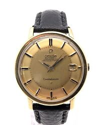 Omega Constellation Pie Pan 18ct Solid Gold Automatic Watch 168.004 Vintage