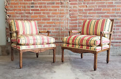 Pair Minton-spidell Cressant Chair-french Country-lounge/armchair-silk-ex