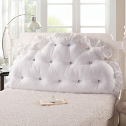 Huge Soft Headboard Support Reading Head Pillow For King Queen Bed Home Footboad