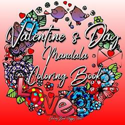 Coloring Book Happy Hour-valentines Day Mandala Color B Book New