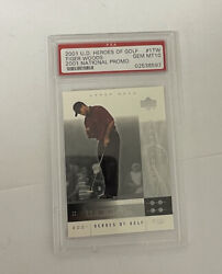 2001 Upper Deck Heroes Of Golf National Promo Tiger Woods Rookie Rc 1tw Psa 10