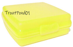 Tupperware Sandwich Keeper Original Style Clasp Yellow Storage Container